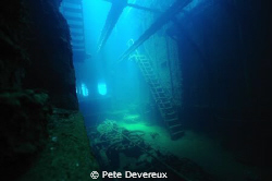 Engine room of Fujikawa Maru around mid-day with natural ... by Pete Devereux 
